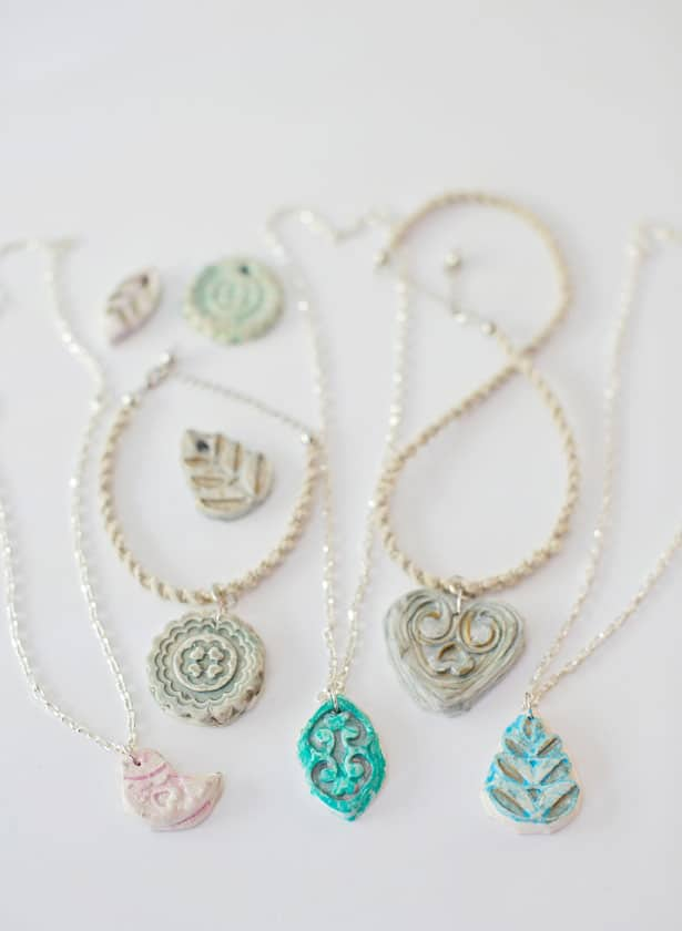 Diy clay pendant necklaces my daughter and i have made some fun monogram charms and hair pins with it and it is super fun and easy to use diy clay pendant necklaces aloadofball Gallery