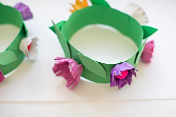 Diy egg carton flower crown mightylinksfo Choice Image