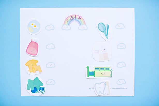 This preschool morning routine chart comes with all the free printables you'll need to make mornings with your kiddos go smoothly.