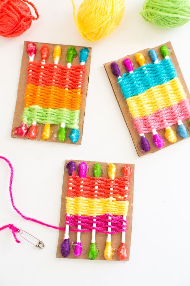 loom craft ideas hello wonderful how to make a q tip weaving loom for 2358