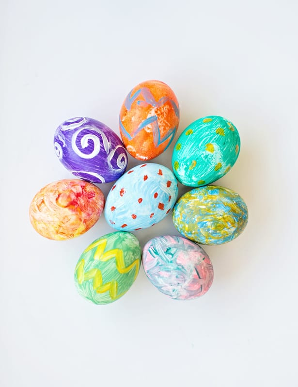 Kid Made Watercolor Easter Eggs