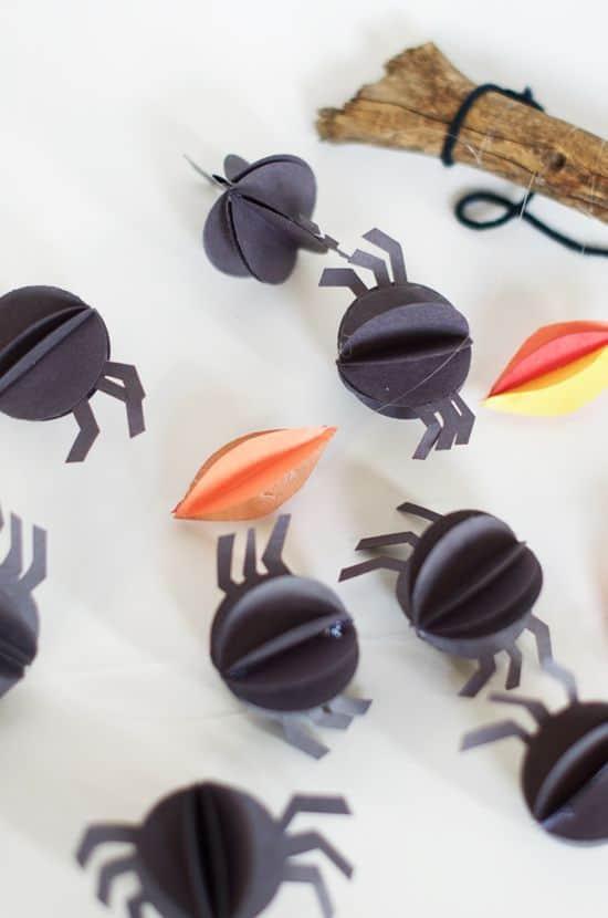Halloween Paper Spider Mobile