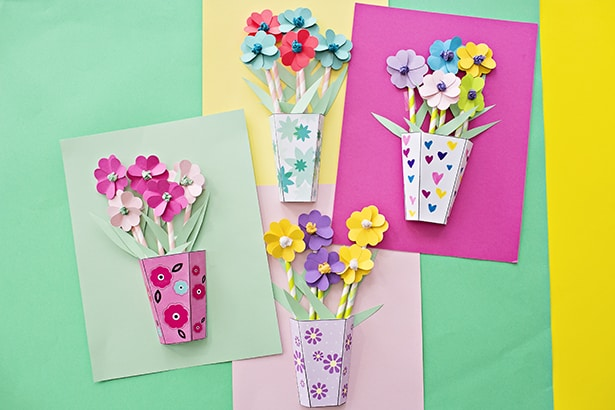How to make 3d paper flower bouquets with video mightylinksfo