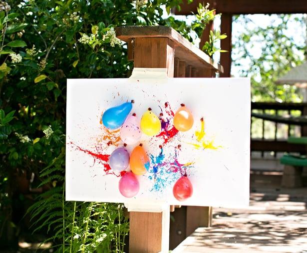 Diy Balloon Dart Painting With Kids