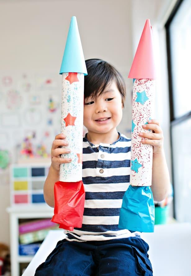 easy diy cardboard rocket ship