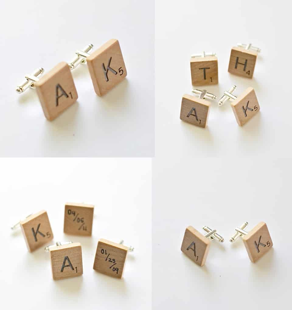 DIY Scrabble Cuff Links - Handmade Gifts for Men