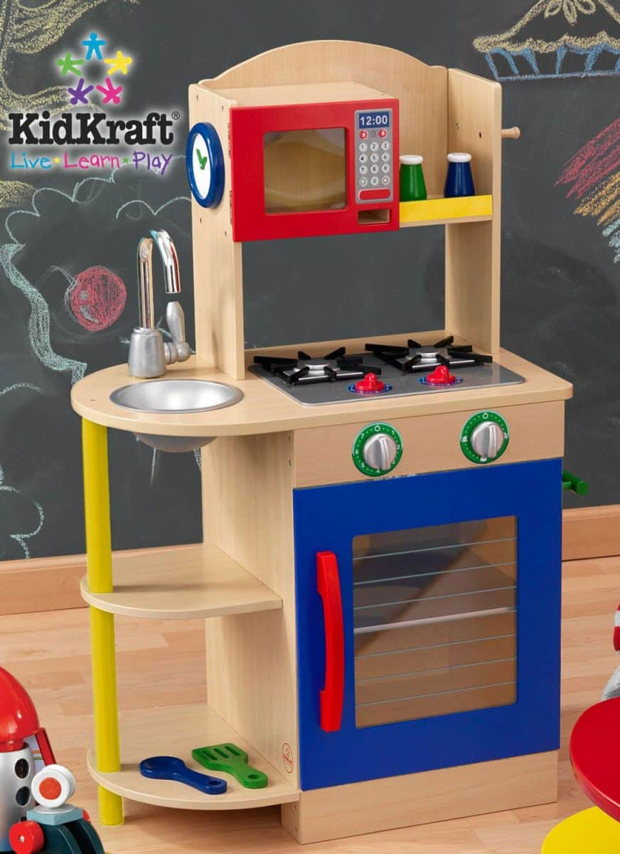 5 Playful Wooden Kitchens