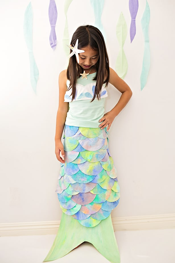 Diy Mermaid Costume Made With Coffee Filters