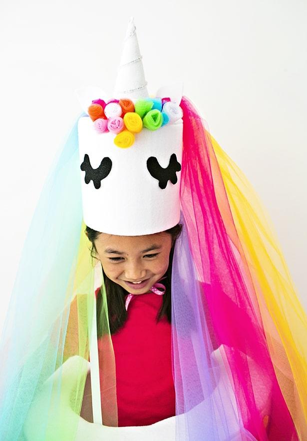 Wondrous Diy Unicorn Cake Costume Personalised Birthday Cards Xaembasilily Jamesorg