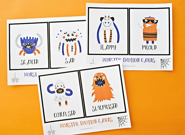 photograph relating to Free Printable Emotion Cards identified as PRINTABLE MONSTER Feeling Playing cards FOR Children