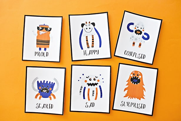 photograph about Printable Emotions referred to as PRINTABLE MONSTER Feeling Playing cards FOR Children