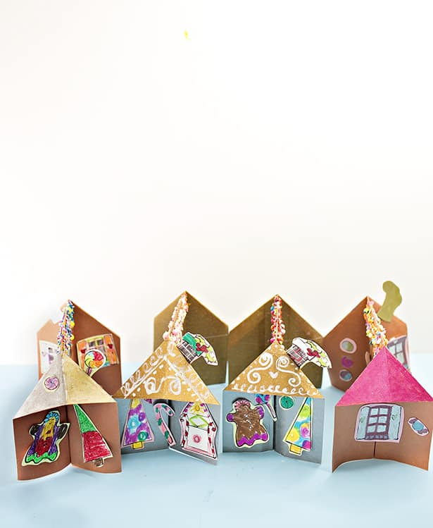 gingerbread house template 3d  7D PAPER GINGERBREAD HOUSE CRAFT