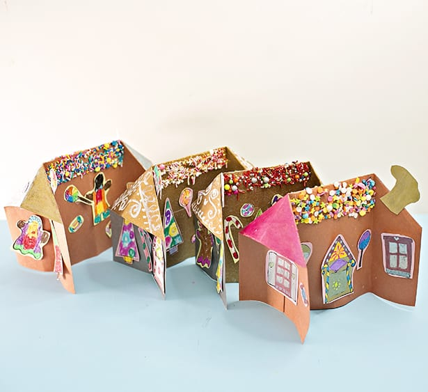 Hello wonderful 3d paper gingerbread house craft Make your own gingerbread house online