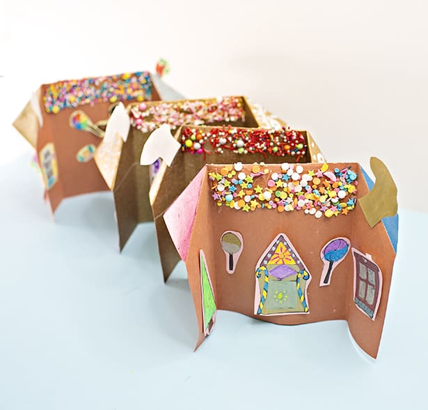 Paper Gingerbread House Gift Bag Craft Kit