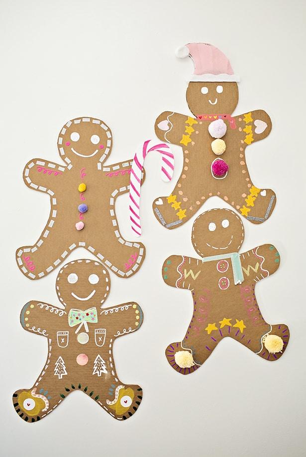 Giant Cardboard Gingerbread Man Art