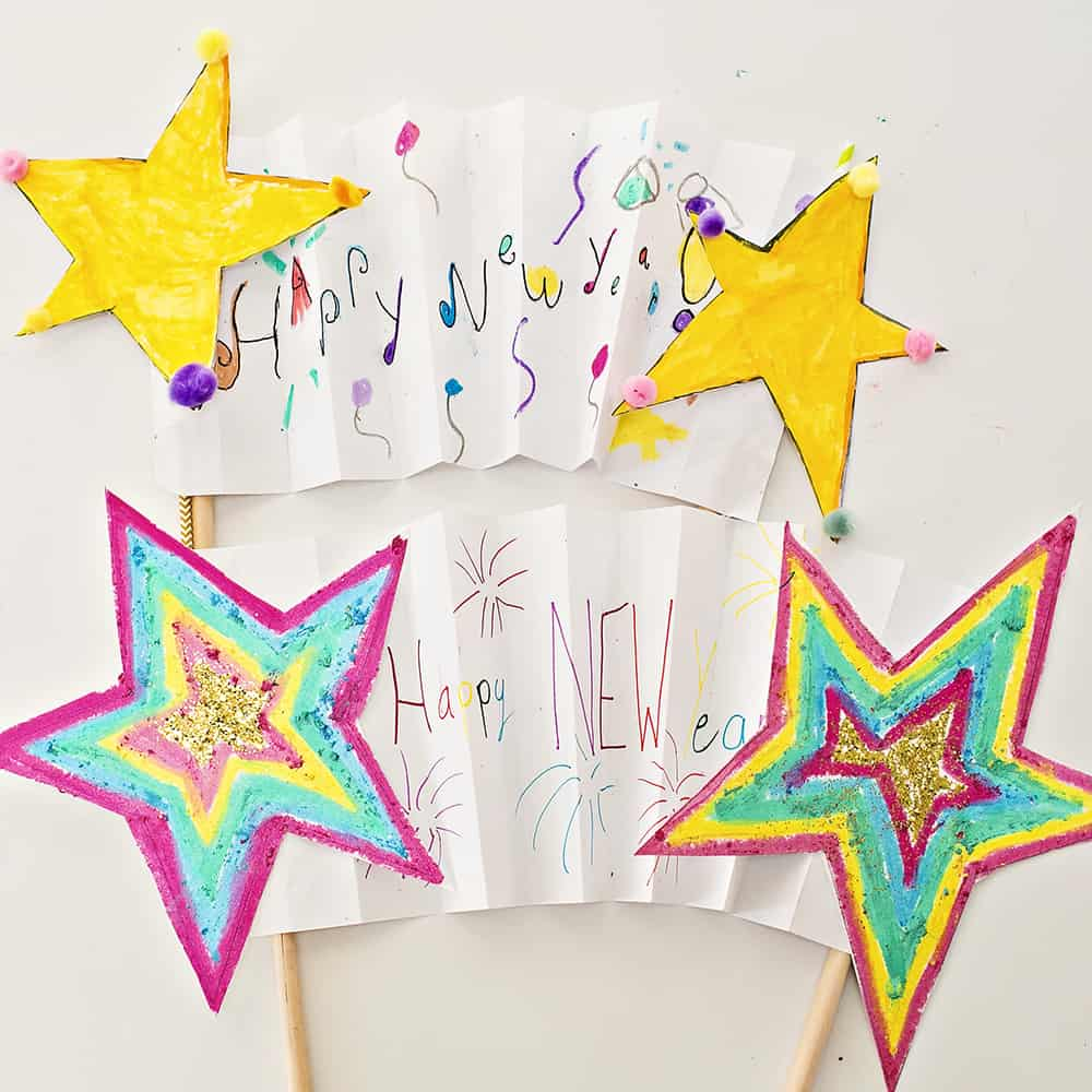 happy new year are you counting down with the kids this year weve got a fun kids art project to get you in the celebratory mood