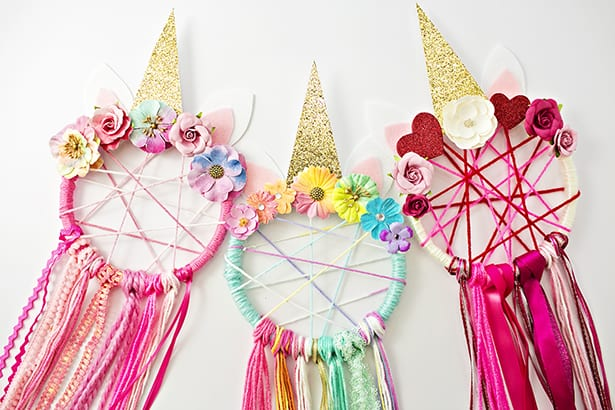 DIY UNICORN DREAMCATCHER Unique Making Dream Catchers With Kids