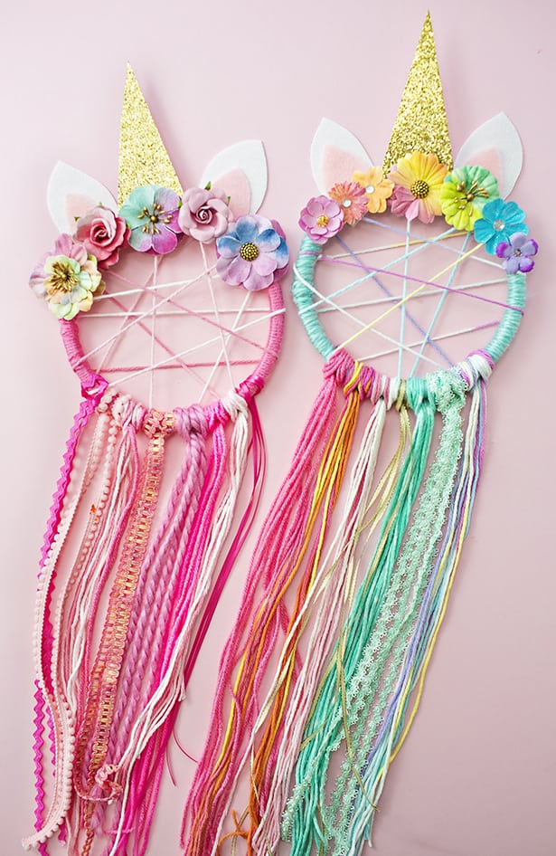 Diy unicorn dreamcatcher for Ideas for making dream catchers