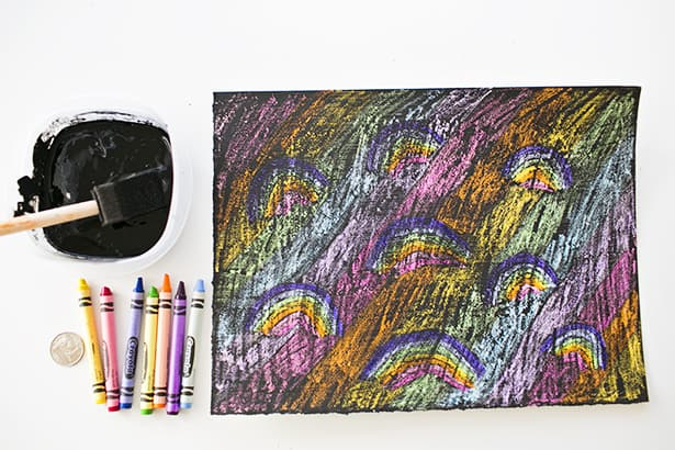 Diy Rainbow Scratch Art For Kids