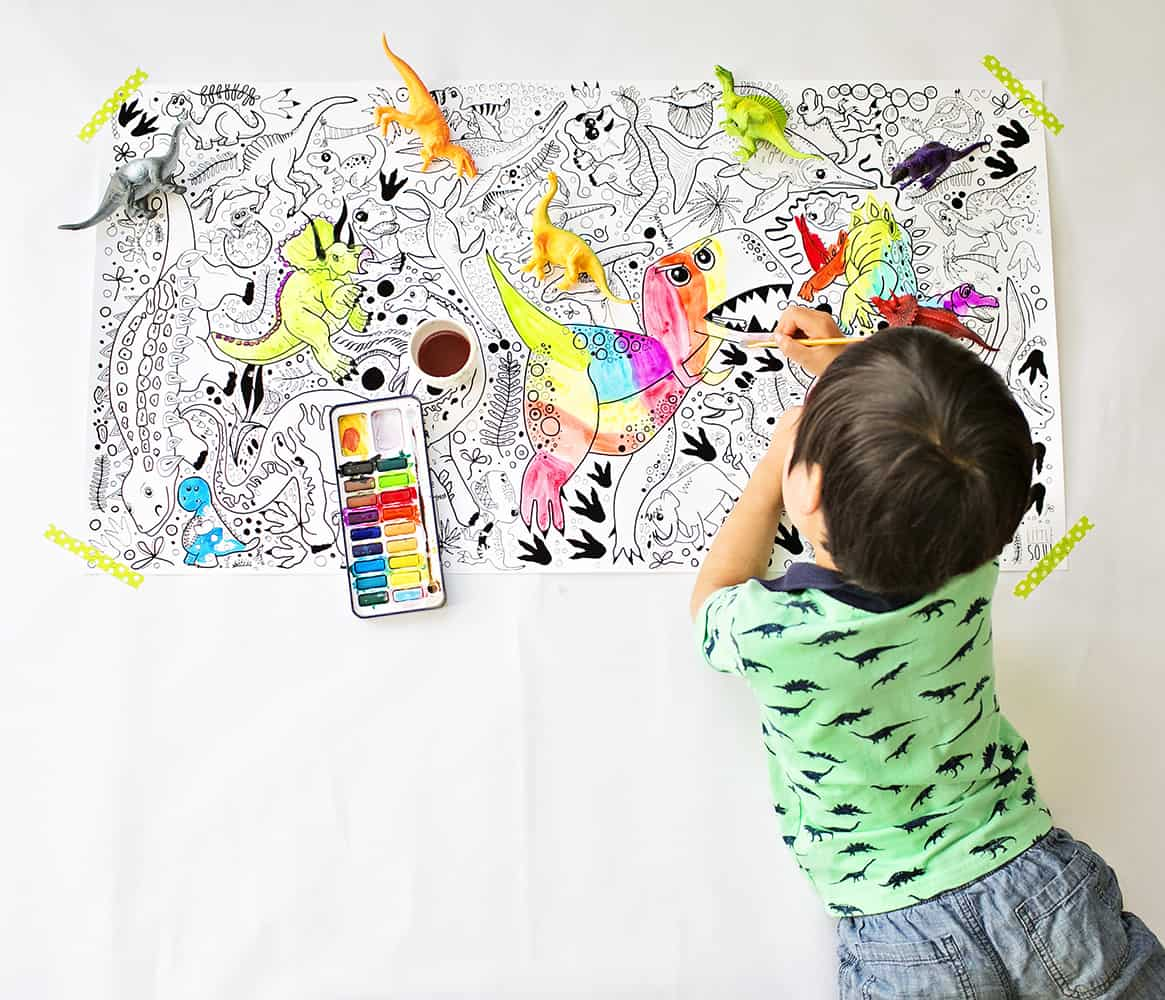 hello wonderful large illustrated coloring posters for kids