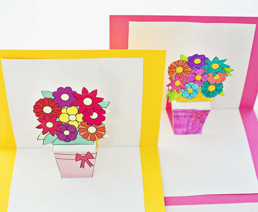 picture relating to Printable Pop Up Cards named HOW Towards Crank out POP-UP FLOWER Playing cards WITH Cost-free PRINTABLES