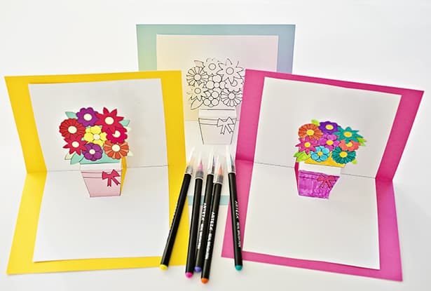 image relating to Free Printable Pop Up Card Templates named HOW Toward Produce POP-UP FLOWER Playing cards WITH Totally free PRINTABLES