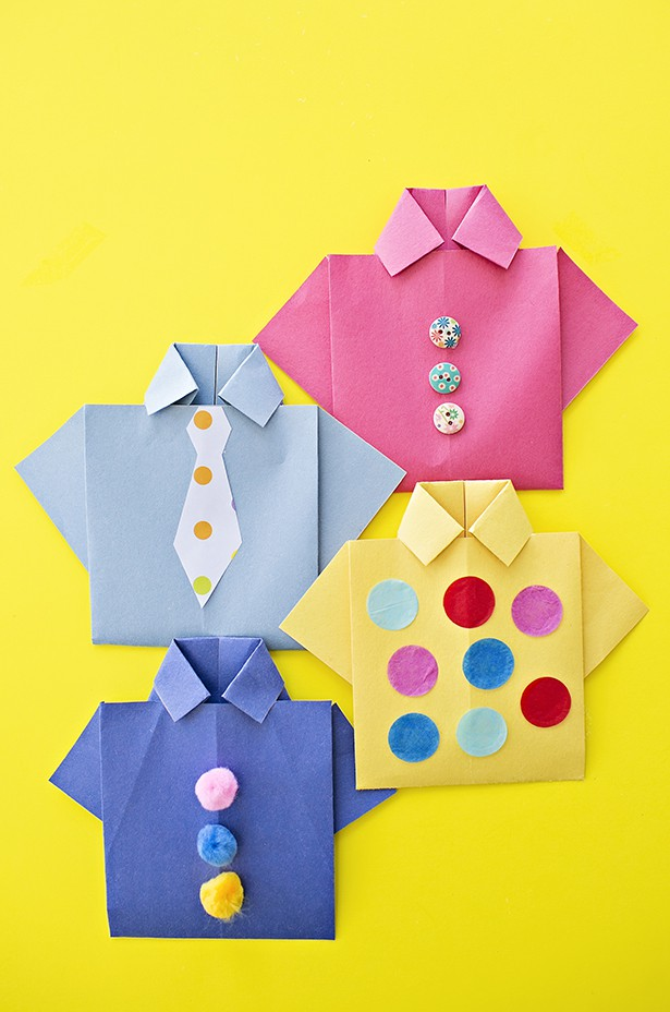 Easy Origami Shirt Fathers Day Card