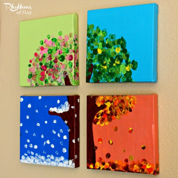 Kids Calendar Art Ideas : Awesome and fun fingerprint art projects for kids