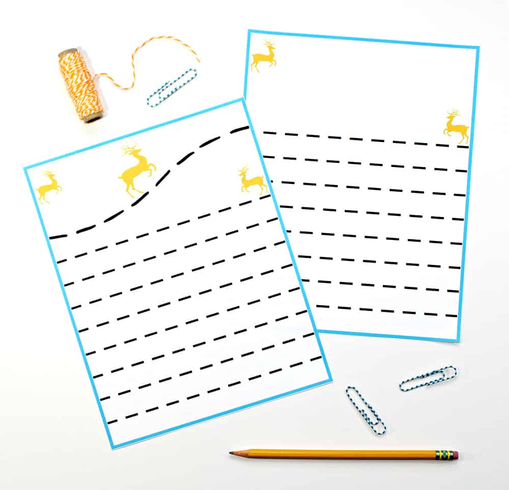 graphic regarding Printable Stationary for Kids referred to as PRINTABLE Xmas STATIONERY Package FOR Children