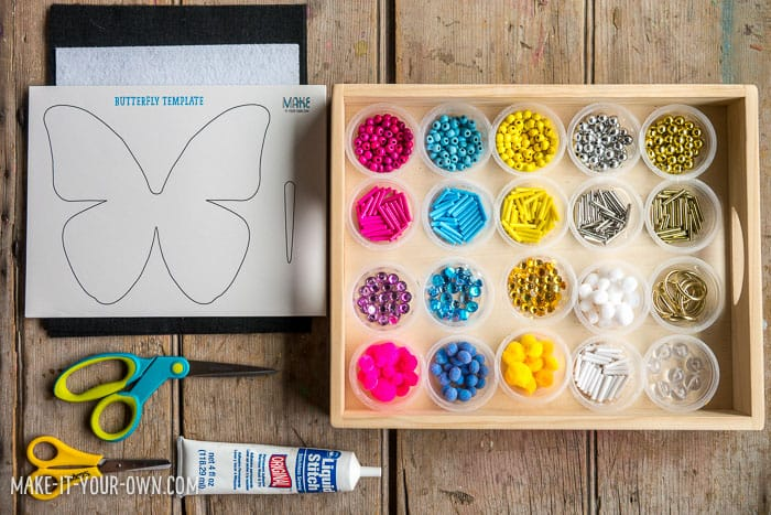design butterfly wings with loose parts