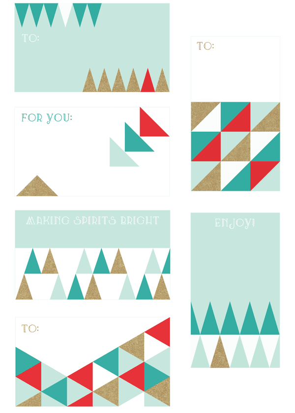 8 FREE PRINTABLE HOLIDAY TAGS TO FIT ANY STYLE