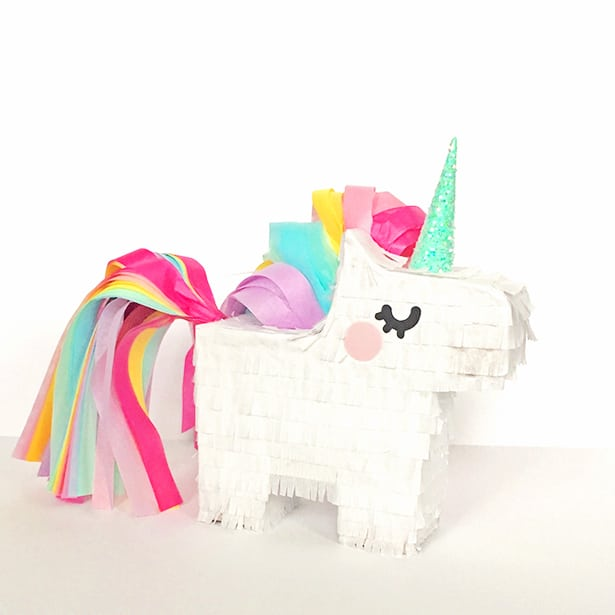 Diy Mini Unicorn Pinata With Free Printable Template