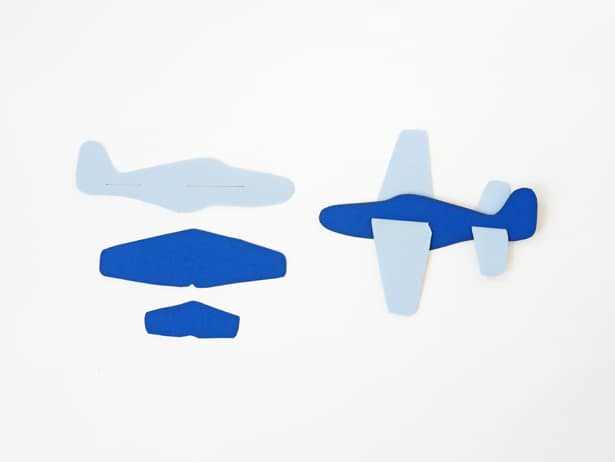 cut out airplane template - diy paper plane toy with free template