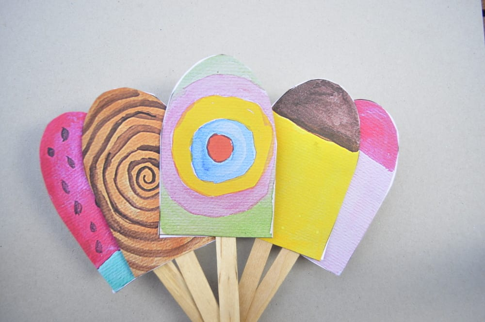13 colorful popsicle ice cream art projects for kids