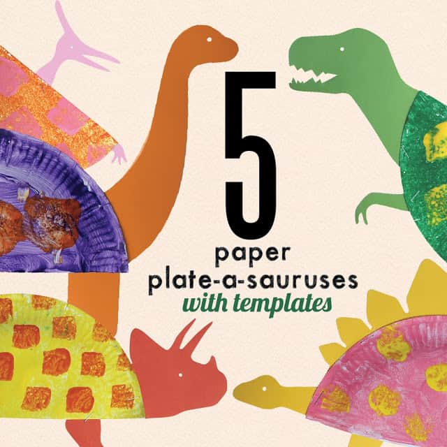 Dinosaur Paper Plates Via Learn With Play At Home Make Some Thrilling But Super Cute Dinosaurs In This Fun Craft Which Also Includes 5 Free Printable