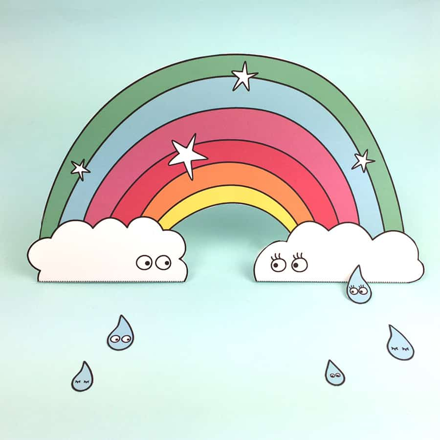 image regarding Free Printable Rainbow named Totally free PRINTABLE PAPER RAINBOW WITH COLORING Resolution