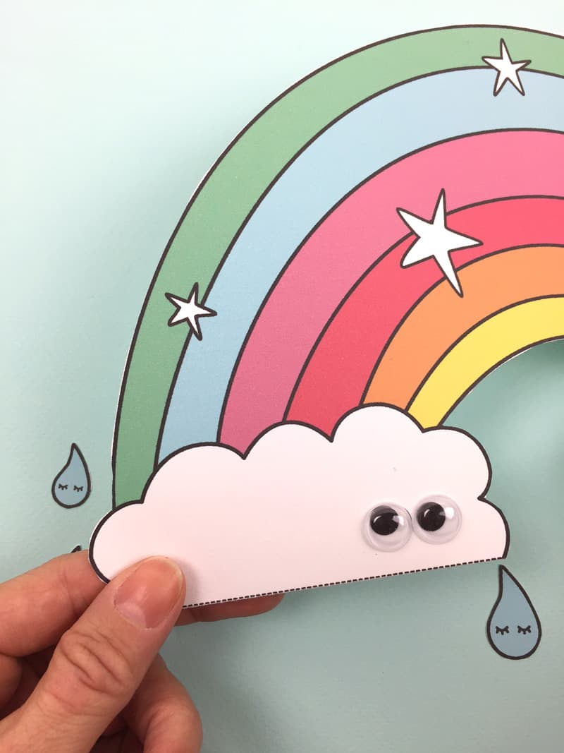 hello wonderful free printable paper rainbow with coloring option