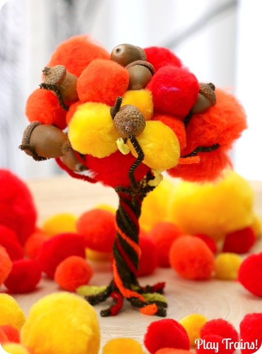 craft ideas with pom poms 10 beautiful fall tree projects for 6342