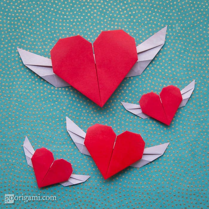 Origami Puffy Heart Instructions | 700x700