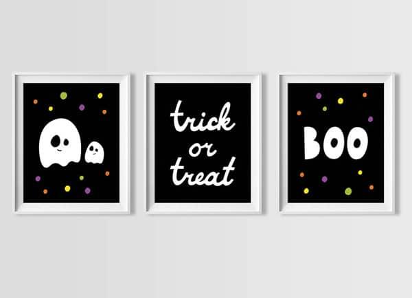 Halloween Wall Art hello, wonderful - halloween wall art free printable set