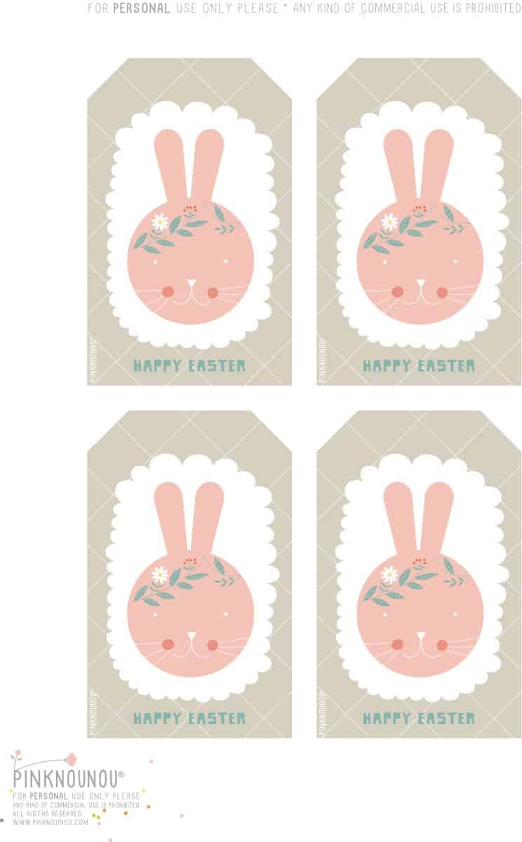 Hello wonderful happy easter free printable bunny tags a charming touch to any easter favors and gifts just print out the tags and place them with decorative string to adorn any treat bags or favor boxes negle Images