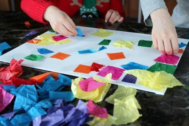 St Patrick S Day Shamrock Process Art With Kids