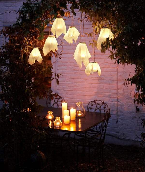 Hanging Lanterns Via Blah Magazine Old Jars And Muslins Make Simple Pretty To Celebrate Light