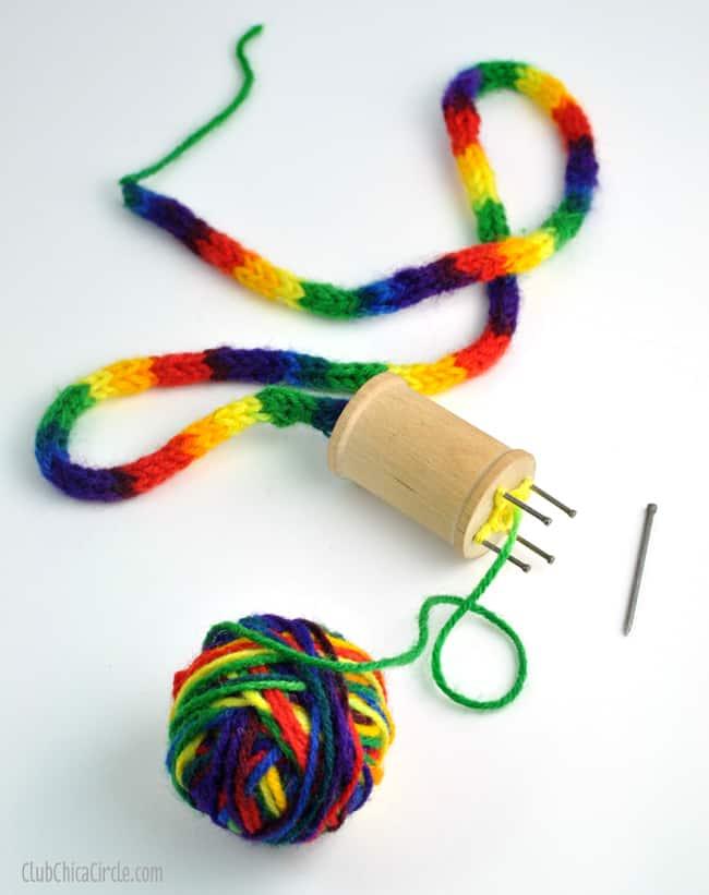 Make An Easy Spool Knitter