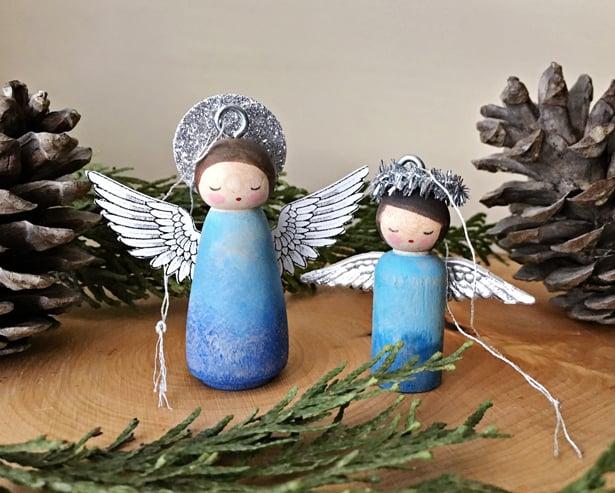 Angel Wings Christmas Ornament