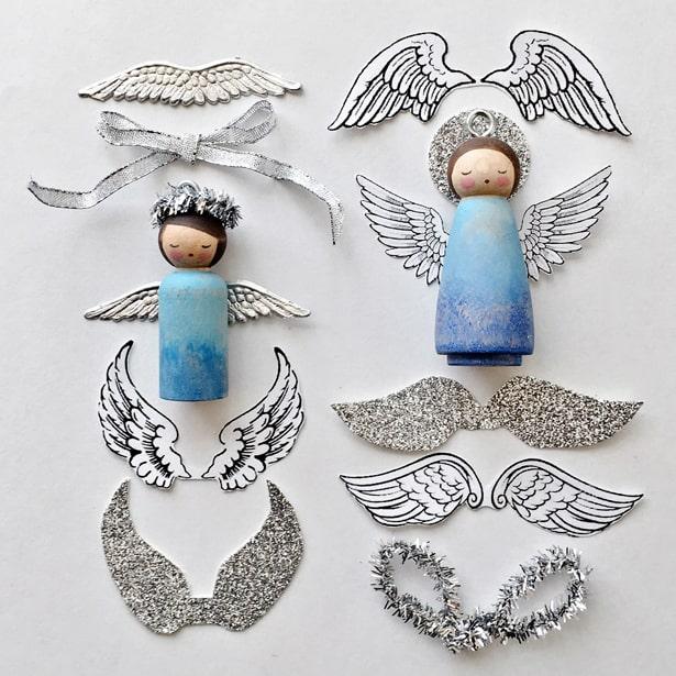 DIY PEG DOLL ANGEL ORNAMENT