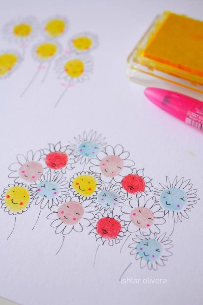 10 awesome and fun fingerprint art projects for kids for Cute painting ideas for kids