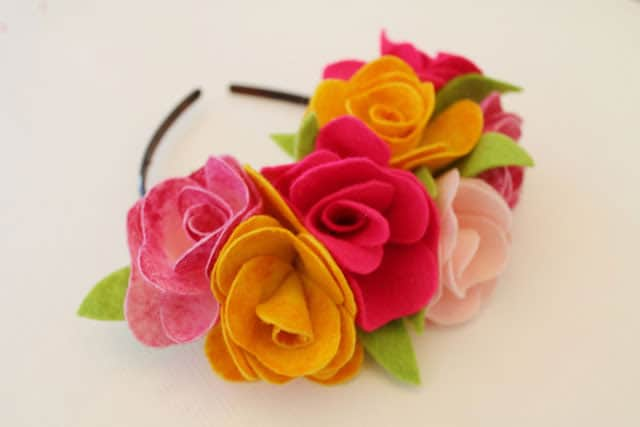 10 ways to make a pretty floral crown felt flower crown via now thats pretty if youve ever wanted to make felt flowers this detailed tutorial shows you how simple it can be mightylinksfo