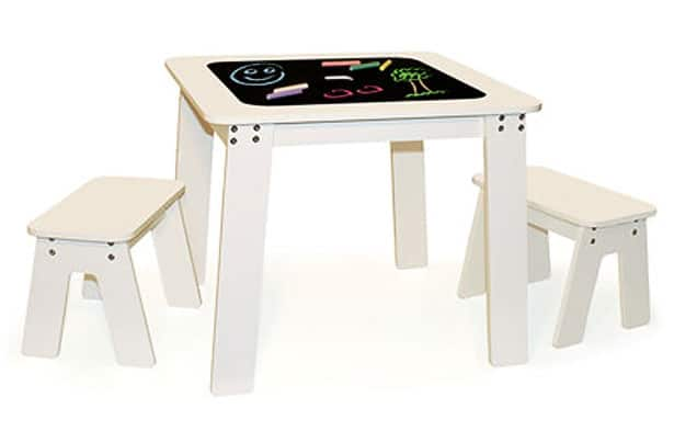 Chalkboard Table And Bench Set Kids Can Doodle All Over This Chalkboard  Table Top.