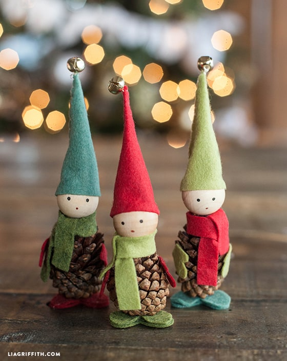 Make Felt Pinecone Elves